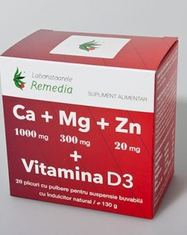Ca+Mg+Zn+vitamina D3 20 doze Remedia 18