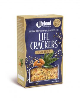 LIFECRACKERS cu chia si canepa raw eco 90g 50