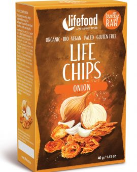 LIFE Chips din ceapa raw eco 40g 44
