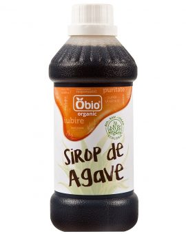 Sirop de agave dark raw eco 500ml Obio 18