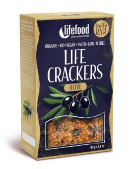 LIFECRACKERS cu masline raw eco 90g 57