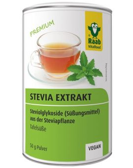 Stevia pulbere extract solubil premium 50g RAAB 68