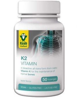 Vitamina K2 1500mg, 50 tablete vegane RAAB 62