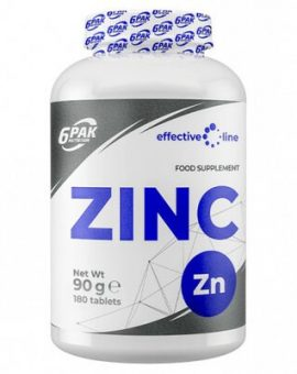 ZINC 15MG, 180 TABLETE, 6PAK NUTRITION 64