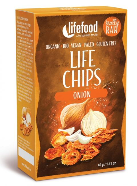 LIFE Chips din ceapa raw eco 40g 17