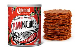 Chips Crawnchies cu boia spicy raw eco 30g 18
