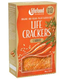 LIFECRACKERS cu morcovi raw eco 80g 60