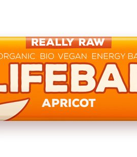 Lifebar baton cu caise raw eco 47g 20