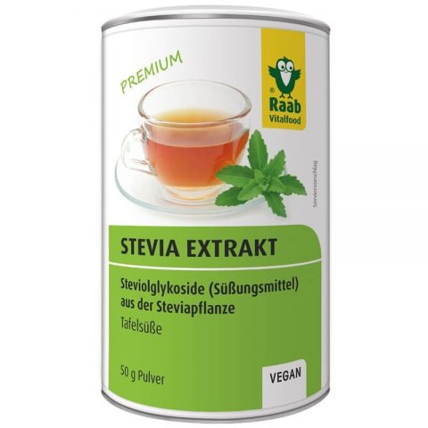 Stevia pulbere extract solubil premium 50g RAAB 17