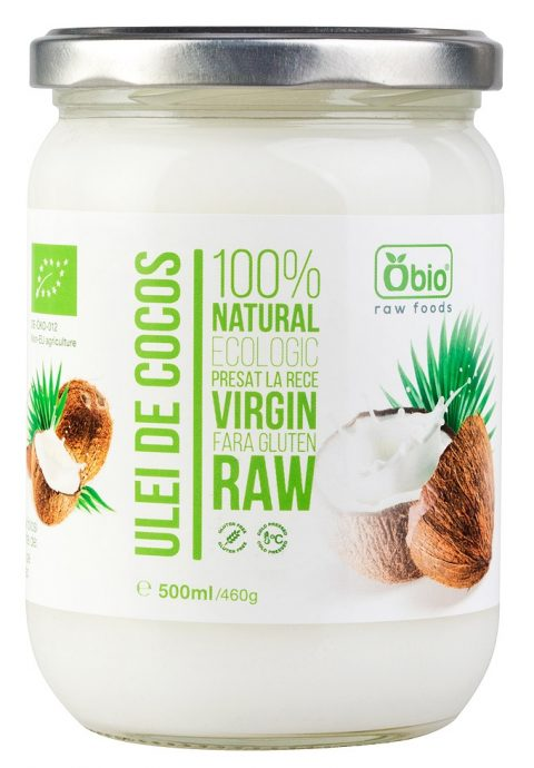 Ulei de cocos virgin raw bio 500ml OBIO 17