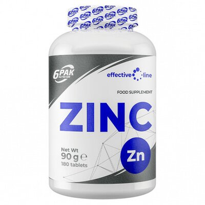 ZINC 15MG, 180 TABLETE, 6PAK NUTRITION 17